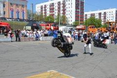 Для  жителей  и  гостей  Уфы  были  организованы  выставка мототехники известного на весь мир мотоклуба, а также  шоу мотофристайла,  выступление  мотокаскадеров  и концерт.